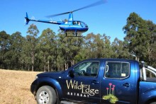 Get a helicopter view of Wild Edge and Hunter Valley Wine Country.