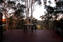 Whispering Forest deck view.